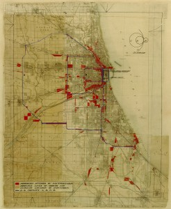 2-09-Diagram of existing 1909 industrial areas and commuter and industrial rail circuits