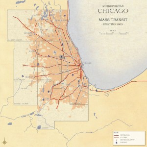 3.2-11-Metro Chicago existing Mass Transit (2009)