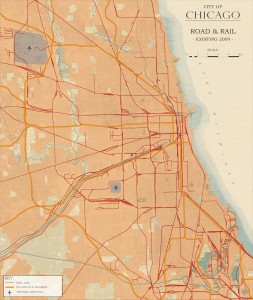 3.2-18-City of Chicago existing Road and Rail (2009)
