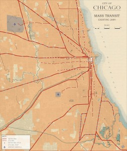 3.2-23-City of Chicago existing Mass Transit (2009)