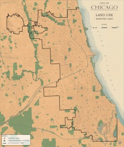 3.3-12-City of Chicago existing Land Use (2009)