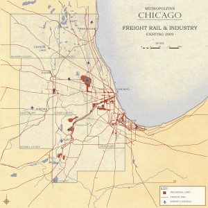 3.4-04-Metro Chicago existing Industrial Land and Freight Rail (2009)