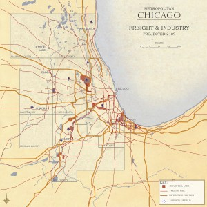 3.4-08-Chicago 2109 Metro Chicago proposed Industrial Land - Freight Rail - Interstates