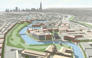 3.7-18.9-North Branch proposed at Armitage looking southeast